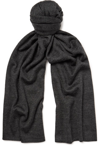 Isaia Cashmere And Silk-Blend Scarf
