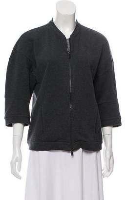 Brunello Cucinelli Monili-Trim Zip-Up Sweatshirt
