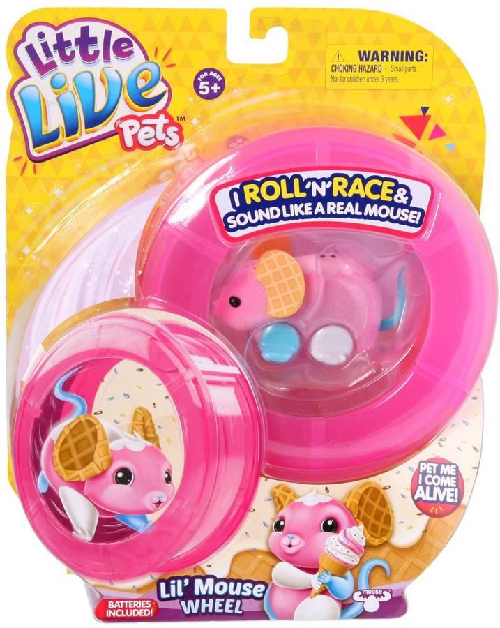 Little Live Pets Mouse Wheel - Waffles - Pink