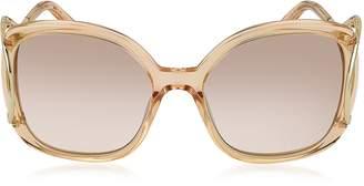 Chloé JACKSON CE 702S Large Square Acetate & Metal Women's Sunglasses