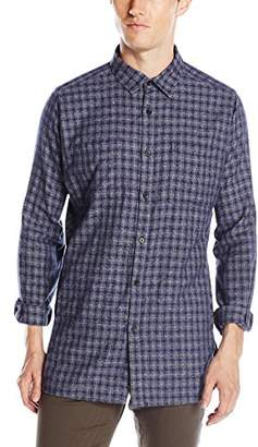 Kenneth Cole New York Men's LS Bdc Hthr Ombre