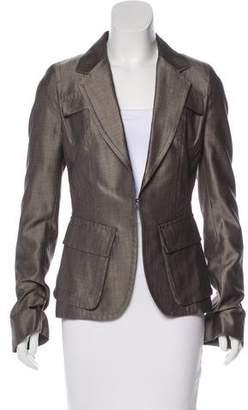 Kaufman Franco Kaufmanfranco Wool & Silk Structured Blazer