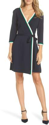Eliza J Stripe Faux Wrap Dress