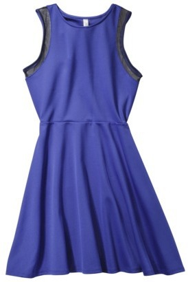 Xhilaration Juniors Mesh Detail Fit & Flare Dress - Assorted Colors