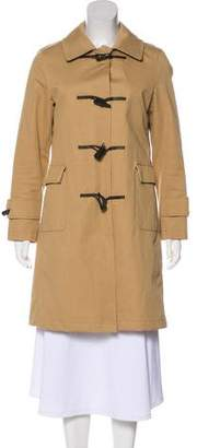 Burberry Pointed Collar Knee-Length Coat