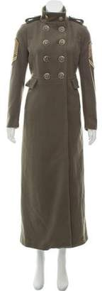 History Repeats by Femme Michele Rossi Double-Breasted Wool Coat w/ Tags