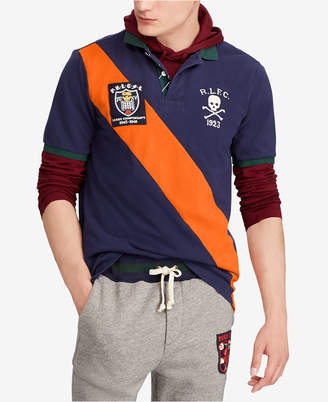 Polo Ralph Lauren Men's Rugby Patch Classic Fit Mesh Cotton Polo