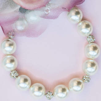 Crystal Pearl Chez Bec Jackie O Large Bracelet