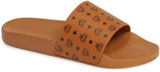 MCM Visetos Slide Sandal