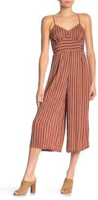 Angie Striped Spaghetti Strap Jumpsuit