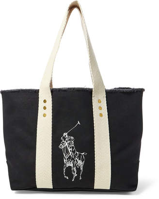 Ralph Lauren Canvas Medium Big Pony Tote