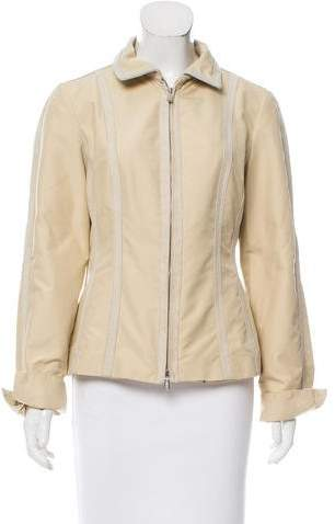 Loro Piana Structured Leather-trimmed Jacket