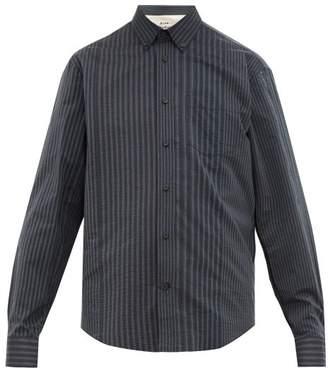 Acne Studios Sarkis Striped Seersucker Shirt - Mens - Grey Multi