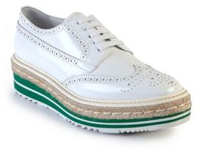 Prada Leather Creeper Brogue Espadrilles $995 thestylecure.com