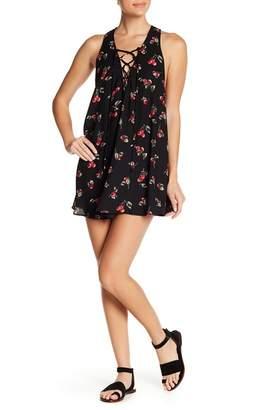 Show Me Your Mumu Rancho Mirage Lace-Up Mini Dress