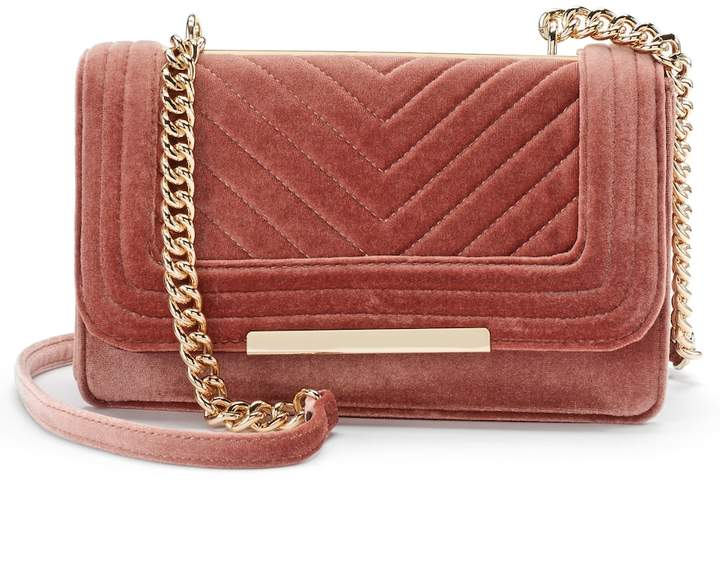 Apt. 9® Gaby Quilted Velvet Flap Shoulder Bag