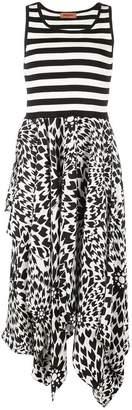 Missoni striped contrast print midi dress