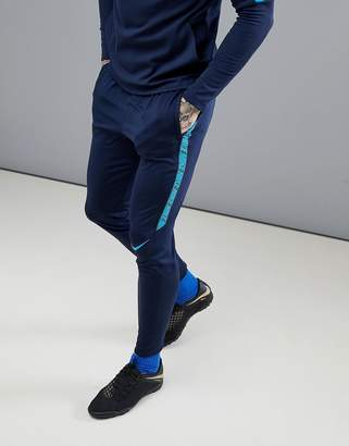 Nike Football Training Squad Dry Drill Joggers In Blue 859225-452