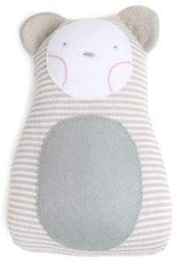 Oliver & Adelaide Striped Bear Cotton Pillow Rattle