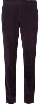 Aubergine Slim-Fit Cotton And Cashmere-Blend Corduroy Suit Trousers
