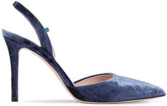 Sarah Jessica Parker 90mm Bliss Velvet Sling Back Pumps