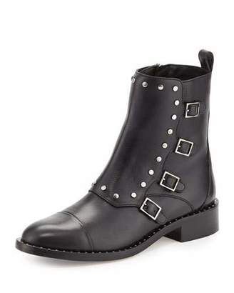 Jimmy Choo Baxter Leather Buckle Bootie, Black $1,095 thestylecure.com