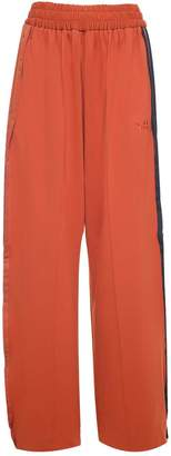 Y-3 Y 3 Wide-leg Side-stripe Cotton-blend Trouser