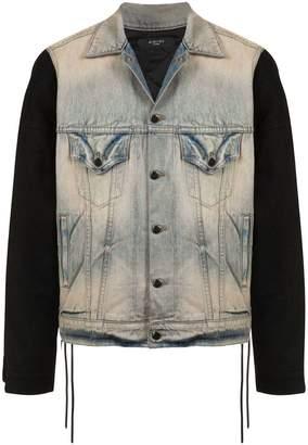 Amiri contrast sleeve denim jacket