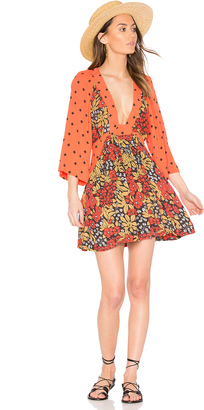 Free People Talulla Printed Mini Dress $128 thestylecure.com
