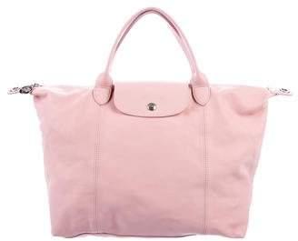 Longchamp Large Le Pliage Cuir Bag