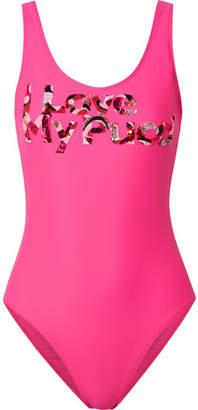 Emilio Pucci Embellished Swimsuit - Fuchsia 47e854b53