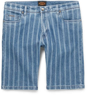Tod's Slim-Fit Striped Stretch-Denim Shorts