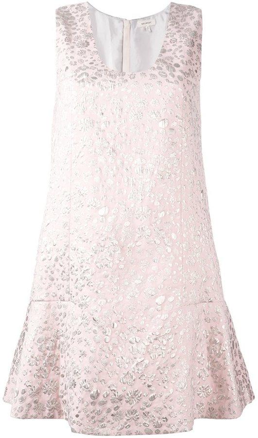 DELPOZO shirt collar patterned dress
