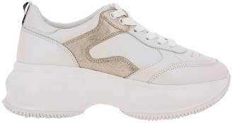 Hogan Sneakers Active One Maxi Sneakers In Smooth Leather With Laminated Details