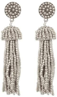 Shashi Mel Beaded Tassel Drop Earrings