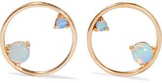 Wwake - 14-karat Gold Opal Earrings