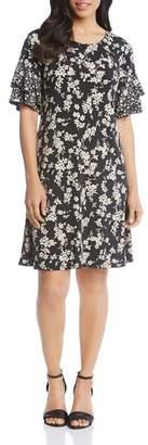 Karen Kane Mixed Floral-Print Dress