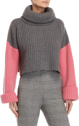 Hache Color Block Turtleneck Sweater