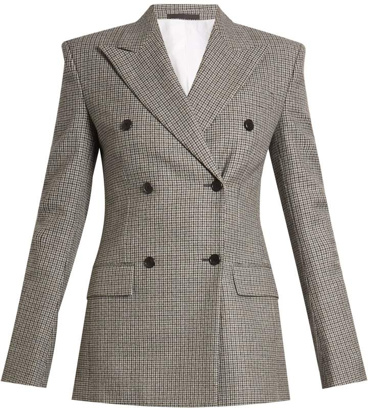 CALVIN KLEIN 205W39NYC Fancy double-breasted checked wool jacket