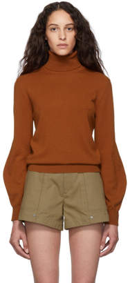 Chloé Brown Cashmere Iconic Turtleneck
