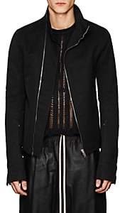 Rick Owens Men's Mollino Cotton-Blend Moto Jacket - Black