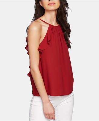 1 STATE 1.state Ruffle-Trim Halter Top