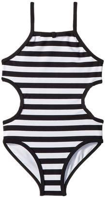 Kate Spade Kids Side Cut Out One-Piece Girl's Swimsuits One Piece