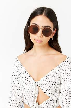 Forever 21 Round Brow Bar Sunglasses