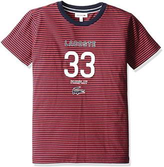 Lacoste (ラコステ) - (ラコステ) LACOSTE BOYS 『LACOSTE 33』ポロシャツ(半袖) TJ0308 503 レッド 04A