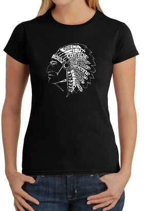 Women's Word Art Native American Tribes T-Shirt in Black $19.99 thestylecure.com