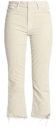 Mother Cropped Corduroy Slim-Leg Pants