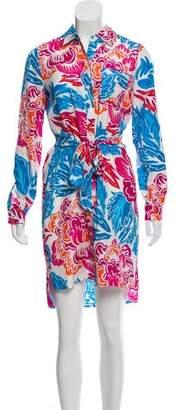 Diane von Furstenberg Silk Button-Up Midi Dress w/ Tags