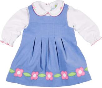Florence Eiseman Corduroy Flower Dress w/ Peter Pan-Collar Top, Size 2-4