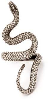 Lynn Ban - Diamond Pave & Rhodium Plated Ring - Womens - Gold